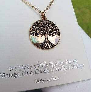Jewelry - Gold Tone Tree Of Life Necklace